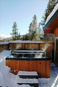 Private Outdoor Hot Tub in Winter