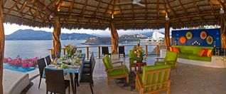 Manzanillo villa photo - Outdoor Dining and Lounge area