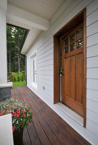 Your private entrance and deck.