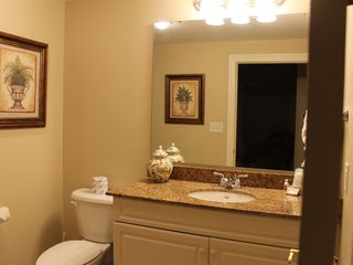 Kingston Plantation condo photo - Guest bathroom. All three bathrooms with high-end finishes.