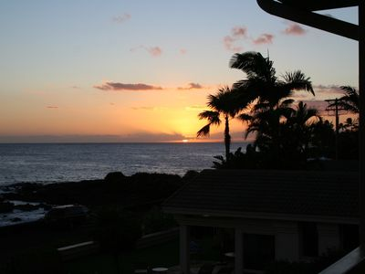 The sun puts on a show nearly every night! (Actual photo from our lanai Oct.'12)