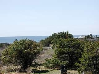North Truro house photo - View from deck and also from the lr/dr/kitchen level