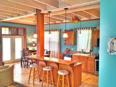 Roatan house rental - Kitchen on second level