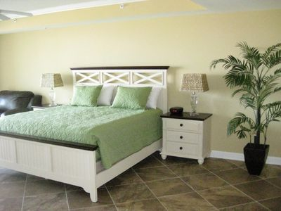Oceans Mist Ocean City condo rental - View of Master bedroom King Bedroom set with Loveseat