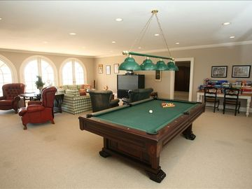 Awesome Recreation Room offers pool table, bumper pool/poker table, ping pong