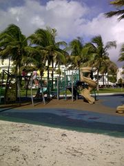 South Beach condo photo - playground directly across from the building