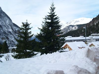 Sella Nevea: chalet in the countryside, on a private road, garden, access to the slopes