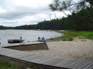Gaylord cabin photo - we supply rowboat, canoe, paddleboat!