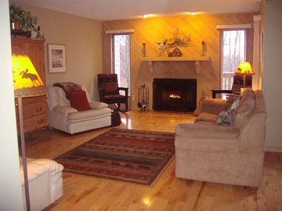 Great Room w/Fireplace and Flat Screen TV
