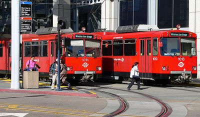 The Red Trolley Gas Lamp Quarter Station is one block from the condo