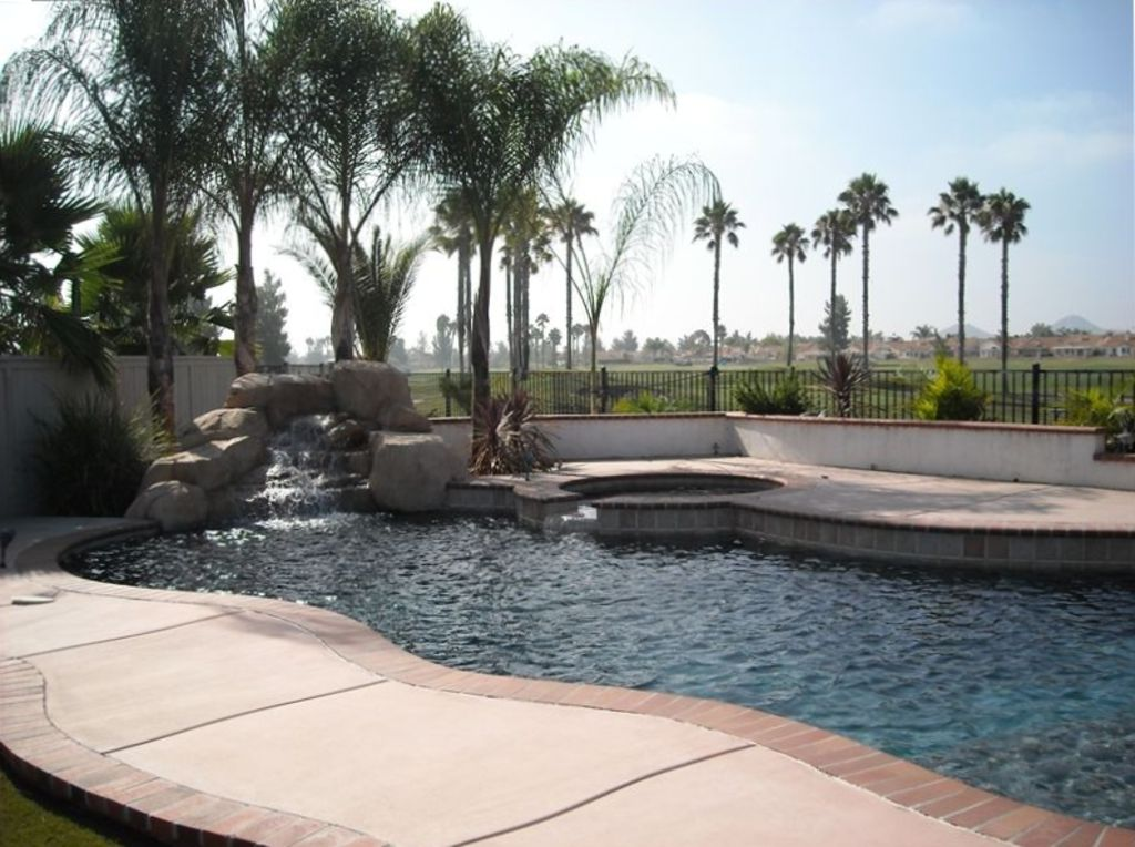 Gated 55+ Community Golf Course View from Private Pool & Spa