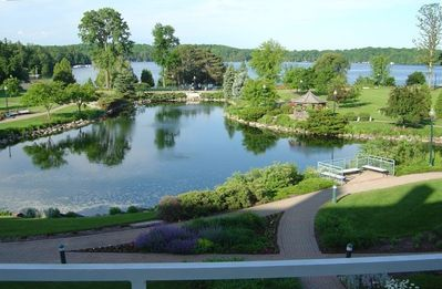 Public Balcony view of Osthoff Grounds and Elkhart Lake