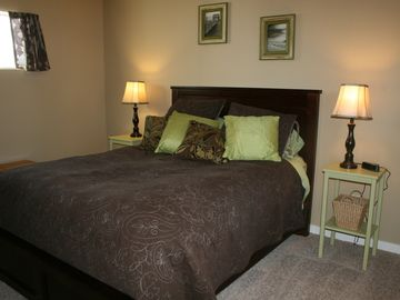 Bedroom two, with queen bed
