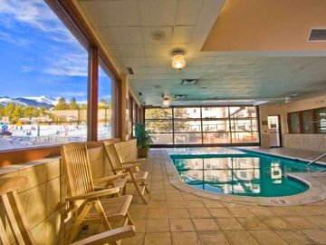 Take a dip in the heated indoor/outdoor pool