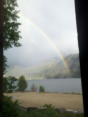 Grand Lake condo photo - View from Deck/Living Room - Rainbow