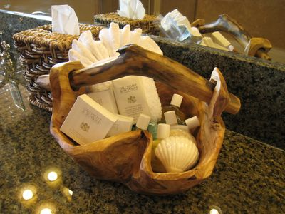Complimentary sundries in each bathroom for your convenience.