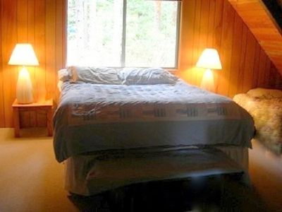 Large Loft has Cal-King bed and 4 Twin beds