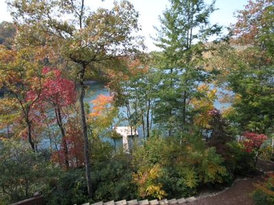 Dockview in autumn from upper patio
