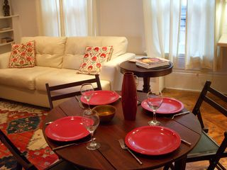 Boston condo photo - dining table seats four comfortably