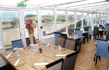 The on site restaurant has a great menu & views