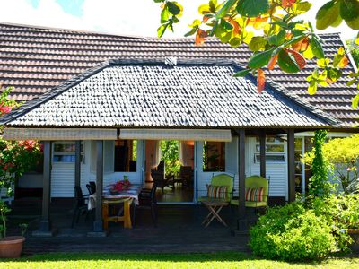 Te Vini House - seafront & garden - A/C - Wifi- 3 bedr- 7 pers - Tahiti