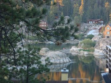Boulder Bay cabin rental - Beautiful lake, mountain and Boulder Bay views from the entire front of the home