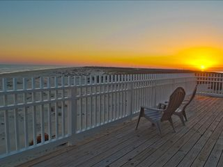 Galveston house photo - great sunset view over the beach and bay