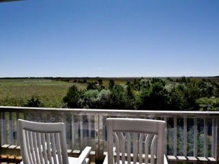 Katama house photo - Master Private Deck With Sweeping Water & Farmland Views
