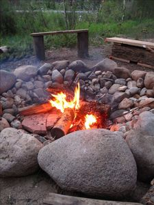 Large outdoor bonfire pit