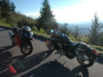 Motorcycles on the Blue Ridge Parkway