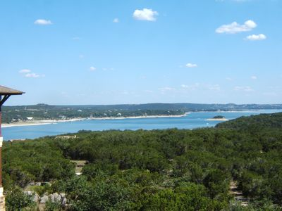 View of Lake Travis & Hill Country from the home.