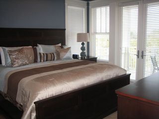 Inlet Beach townhome photo - 3rd floor master with LCD TV, private balcony and private bath