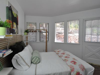 Sunny and bright master bedroom!