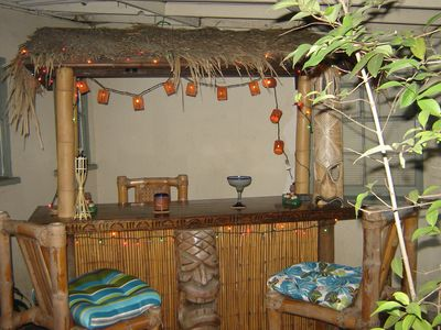 Tiki bar in the back yard