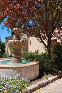 Spanish Colonial style Fountain Graces the Compound's Courtyard