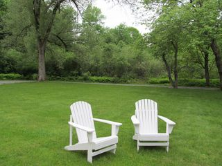 Woodstock house photo - Outdoor seating in a private wooded area