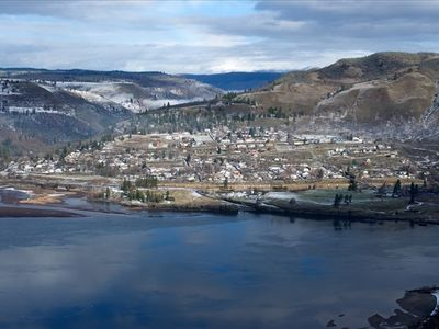 Picture of Lyle, taken from rowena, Oregon in the winter.
