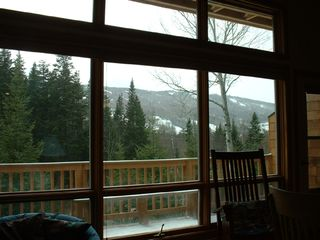 Bretton Woods townhome photo - Main room view of slopes and chair lifts