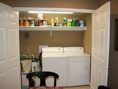 Lake Barkley cabin rental - Laundry