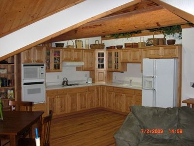 West Glacier chalet rental - Master Suite Kitchen