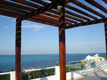 Isla Mujeres house rental - View from the roof top terrace