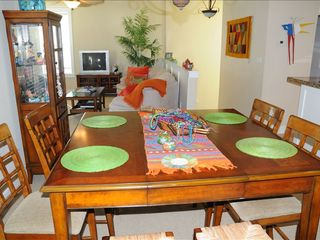 Galveston cottage photo - Dining area for eight people