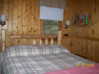 Pentwater cabin photo - Bedroom with double bed