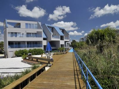 Englewood Beach condo rental - Boardwalk (view from the beach)