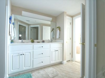 Nice large walk-in closet from the master bath