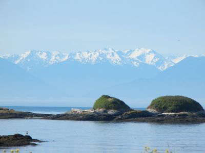 Haystack Isles close to home. Olympic mtns (USA) and Straits of Juan de Fuca