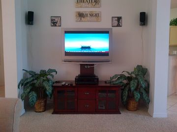 Living Room Entertainment Center with DVD and Bose Speaker Stereo System!
