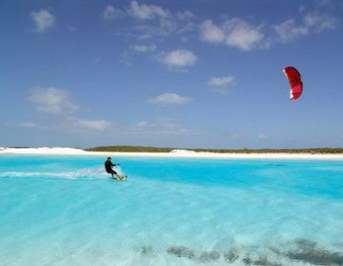 Great Exuma house rental - Kite Boarding Offshore from Harbour View