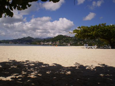 Relax on Grand Anse Beach..only 5 mins away