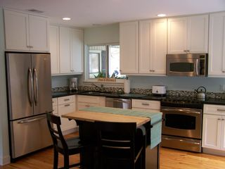 Sea Pines house photo - Custom kitchen - completely equipped and spotless, with eating island